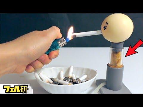 タバコがいかに体に悪いかを実験width=190